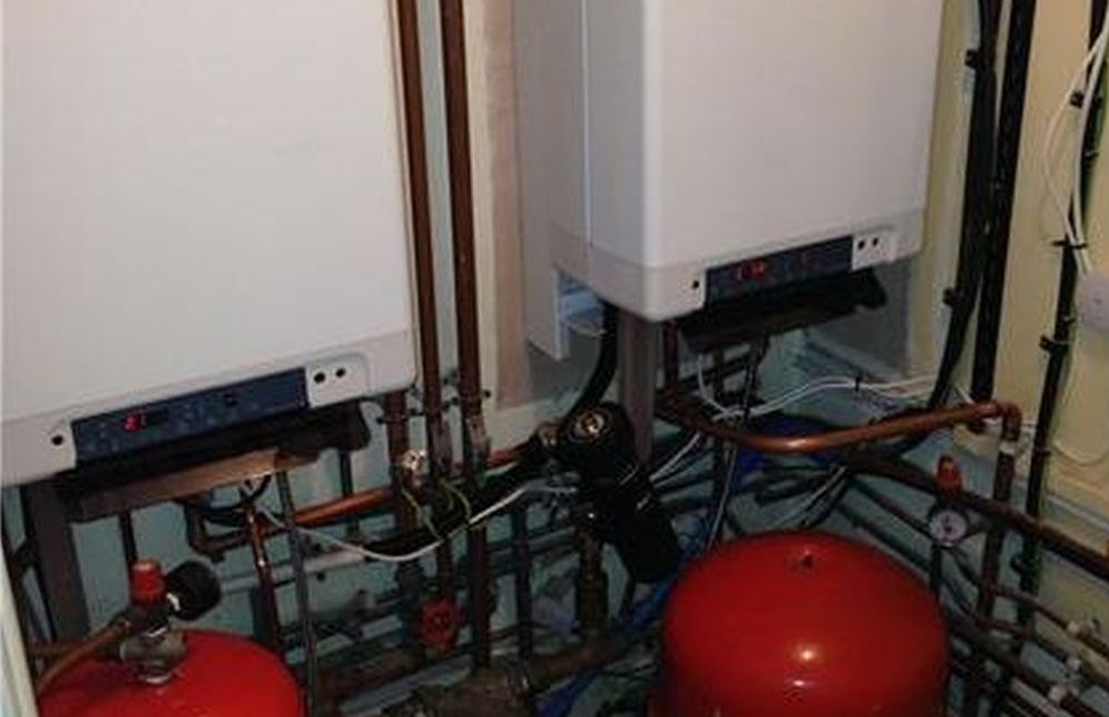 double boiler installation by 24-7 plumbing & heating st albans